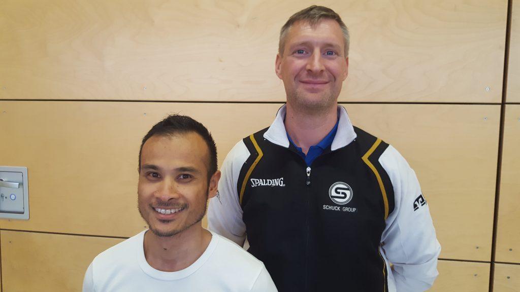 Faizal Pasaribu (links),  Jürgen Maaßmann (rechts)
